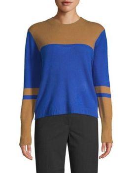 Colorblock Self Tie Cashmere Sweater by Naadam