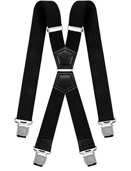 Mens Suspenders X Style Very Strong Clips Adjustable One Size Fits All Heavy Duty Braces by Decalen