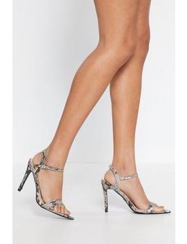 Snake Print Stiletto Heels by Nasty Gal