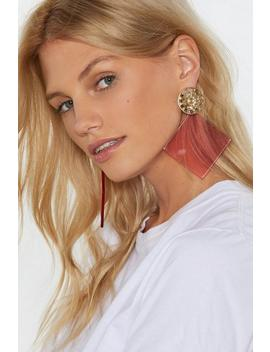 I'm All Ears Square Drop Earrings by Nasty Gal