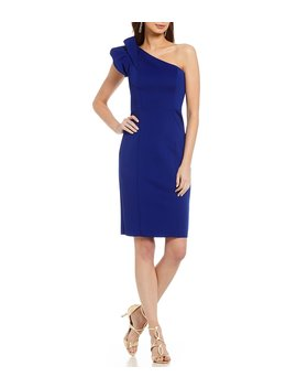 One Shoulder Drama Sleeve Dress by Vince Camuto