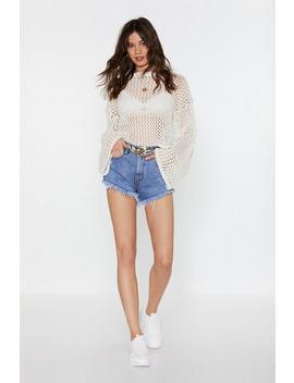 It's Me Or Hem Frayed Denim Shorts by Nasty Gal
