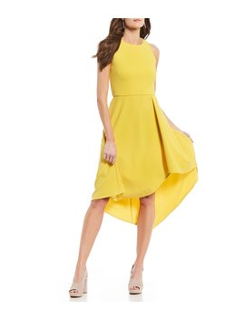 Sleeveless Asymmetrical Hem Midi Dress by Vince Camuto
