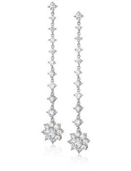 Nina Jewelry Spring 2018 Womens E Bologna Earrings, Rhodium/White Cz by Nina