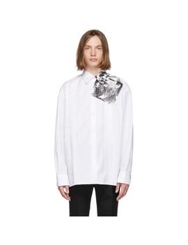 White Cropped Punkette Shirt by Raf Simons
