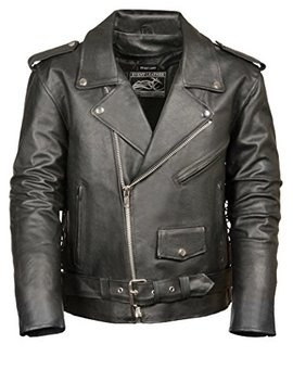 event-biker-leather-mens-basic-motorcycle-jacket-with-pockets-(black,-x-large) by event-biker-leather