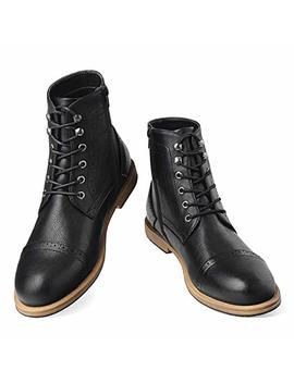 Men's Wingtip Oxford Boots Chukka Lace Up Zip Boots Ankle Dress Boots Work Combat Hike by Gm Golaiman