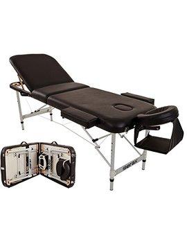 Merax Aluminium 3 Section Portable Folding Massage Table Facial Spa Tattoo Bed by Merax