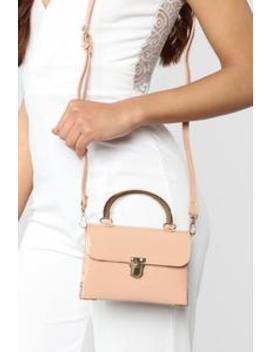 Studs Only Mini Bag   Beige by Fashion Nova