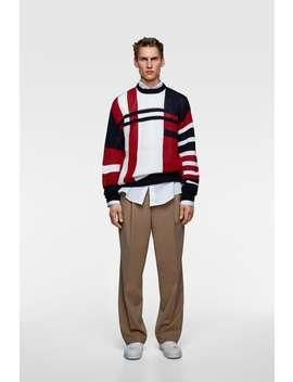 Colorblock Intarsia Sweater  Special Pricesman by Zara