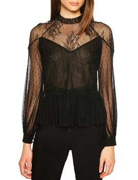 Splice Lace Blouse by Bardot