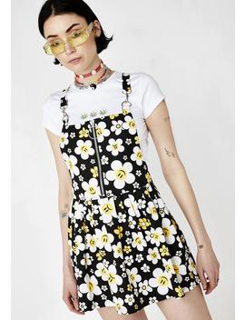 Hazy Daisy Overall Dress by Current Mood