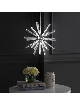 Silver Orchid Finlayson Adjustable Led Starburst Metal/Acrylic Pendant by Silver Orchid