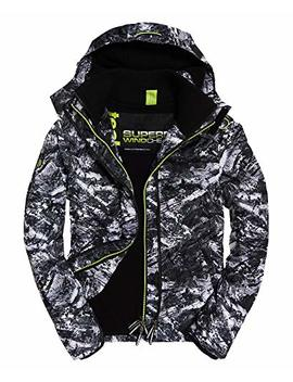 Mens Arctic Hooded Print Pop Zip Sd Windcheater Alpine Grey by Superdry