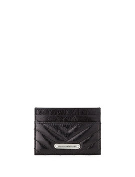 Edie Quilted Card Case, Black by Rebecca Minkoff