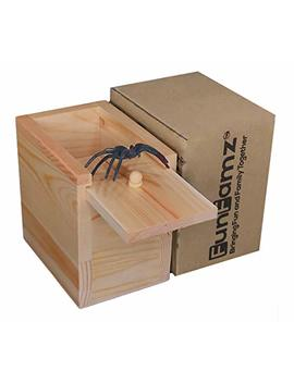 The Original Spider Prank Box  Hilarious Wooden Box Toy Prank, Funny Money Gift Box Surprise Toy, And Christmas Gag Gift Prank For Boys, Girls, Adults By Fun Famz by Fun Famz