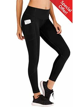 Ewedoos Yoga Pants Women Leggings With Pockets High Waist Tummy Control Workout Pants For Women Running Tights by Ewedoos