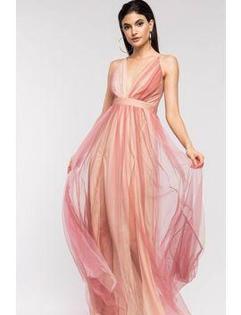 Glinda Plunge Neck Maxi Dress by A'gaci