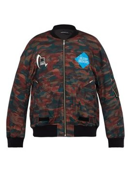 Bloody Geekers Camouflage Print Bomber Jacket by Undercover