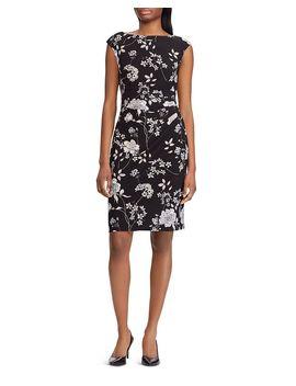 Ruched Floral Dress by Lauren Ralph Lauren