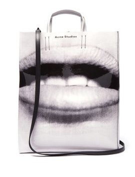 Baker Large Lips Print Pvc Tote by Acne Studios