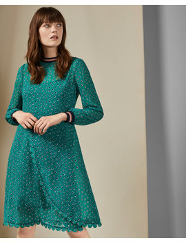Floral Dot Wrap Dress by Ted Baker