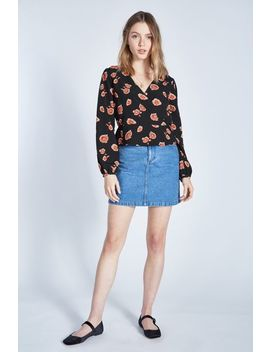 Otterley Floral Long Sleeve Wrap Top by Jack Wills