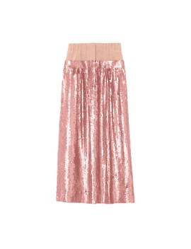Sequined Double Waist Full Skirt by Tibi