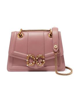 Amore Small Embellished Leather Shoulder Bag by Dolce & Gabbana