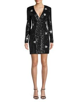 Hearts & Stars Double Breasted Sequin Blazer Dress by Laundry By Shelli Segal