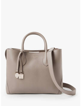 Aspinal Of London The Midi London Leather Tote Bag, Warm Grey by Aspinal Of London