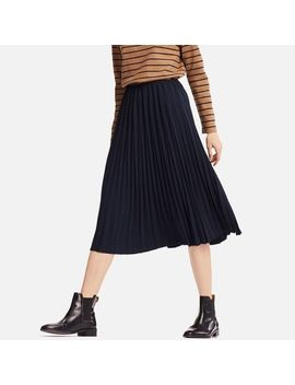 Women Crepe Pleated Skirt (High Waist) by Uniqlo