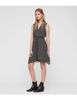 Jayda Splash Dress by Allsaints