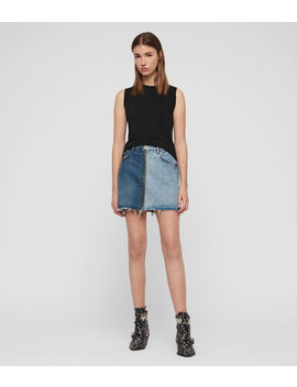 Lomo Denim Skirt by Allsaints