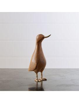 Small Wood Mallard Duck by Crate&Barrel