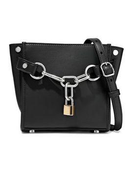 Attica Chain Embellished Leather Shoulder Bag by Alexander Wang