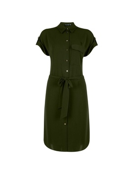 **Tall Khaki Shirt Dress by Dorothy Perkins