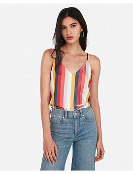 Shimmer Striped Downtown Cami by Express
