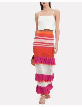Carmen Ruffle Midi Skirt by Suboo