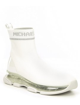 Kendra Wedge Sneaker Booties by Michael Michael Kors