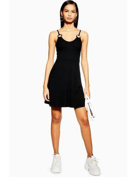 Black Horn Ring Flippy Dress by Topshop
