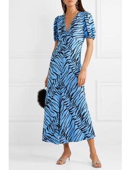Tonya Printed Crepe Midi Dress by Rixo