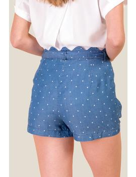 Michelle Scalloped Waist Shorts by Francesca's