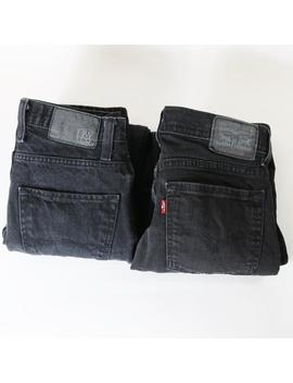 Lot Of 2 Black Jeans Women's Us 28   Levi's 510, Free World Messenger Skinny by Etsy