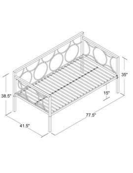 Dhp Rebecca Metal Daybed by Dhp
