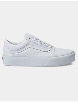 Vans Old Skool Platform True White Womens Shoes by Vans