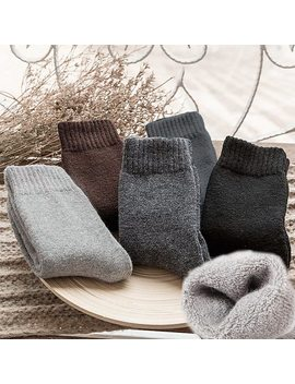 Man Cozy Cashmere Winter Men Thick Socks Winter Warm Floor Fluffy Socks Wool Chaussette Homme Solid Color Men Socks Calcetines by Faitolagi