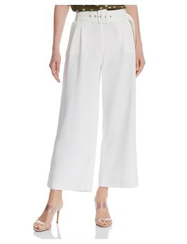 Belted Cropped Wide Leg Pants   100 Percents Exclusive by Chriselle Lim