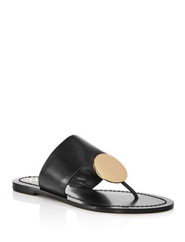 Women's Patos Disk Leather Thong Sandals by Tory Burch