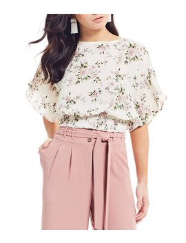 Floral Print Smocked Waist Top by Love & Piece